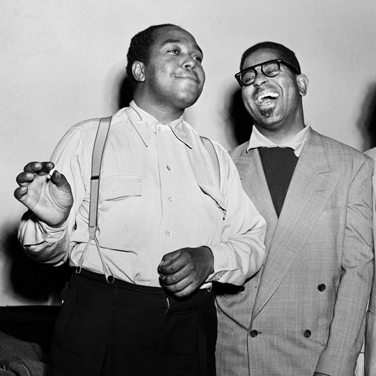Herman Leonard - Charlie Parker and Dizzy Gillespie NYC, 1949